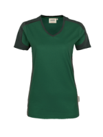 HAKRO Damen-V-Shirt Contrast Performance